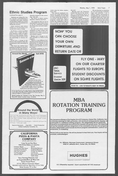 Daily Trojan, Vol. 73, No. 51, May 01, 1978