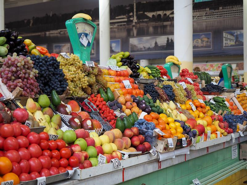 Market in Yaroslavl, Russia