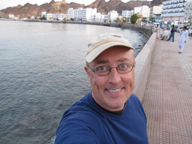 Self-portrait in waterfront in Muscat, Oman