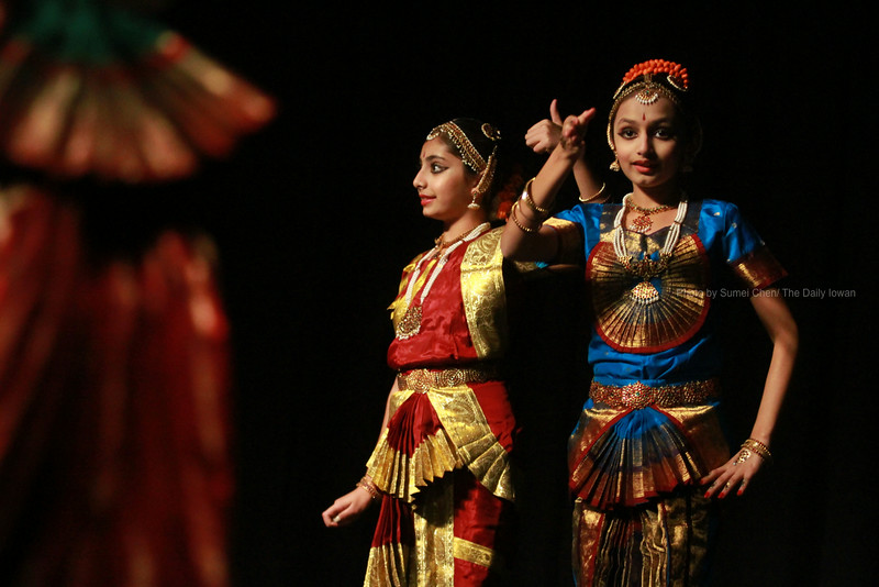 Sampradaya Dance Troupe performs their piece, Navrasa in Ramayan, at the Iowa Memorial Union in Iowa City, Iowa on Saturday, November 3, 2012. This was part of the event, Diwali 2012, presented by the Indian Student Alliance to celebrate the festival of lights. (The Daily Iowan/Sumei Chen)