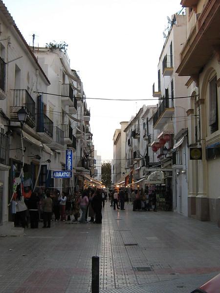 Ibiza Town, Spain - typical Street