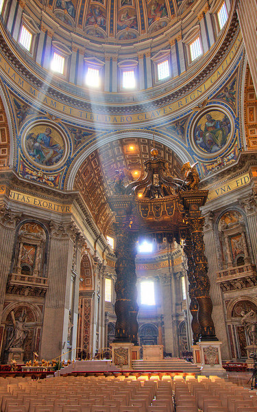 Michaelangelo's Masterpiece: St. Peter's Basilica (HDR Image)