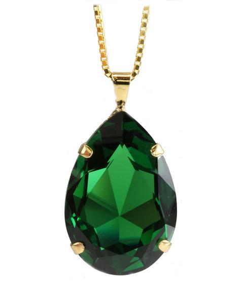 Perfect Drop Necklace / Dark Moss Green