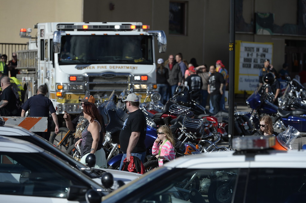 . Multiple shootings and a stabbing have been reported at the Denver Coliseum. Police spokesman Sonny Jackson said at least two people were shot and one was stabbed shortly after 1 p.m. The Colorado Motorcycle Expo is being held this weekend at the Coliseum on the National Western Stockshow complex. (Photo by Andy Cross/The Denver Post)