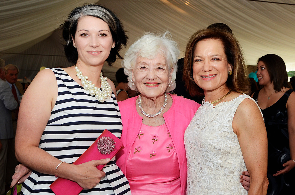 . Erica Miller @togianphotog - The Saratogian:     Tuesday evening at the Saratoga Polo Field grounds Skidmore held the Palamountain Scholarship Benefit Dinner. In attendance were (l-r) Co-chair Sarah Hallberg Boivin \'96, Anne Palamountain and Co-chair Donene D. Honnold.