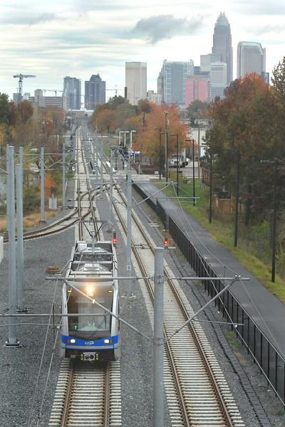 An excellent photo of the ultra modern Charlotte Light Rail system, note the trail alongside and imagine what Jacksonville could do with the 'S' line or former Jacksonville Belt Railroad.