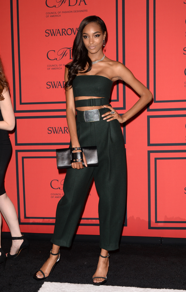 . Model Jourdan Dunn attends the 2013 CFDA Fashion Awards on June 3, 2013 in New York, United States.  (Photo by Andrew H. Walker/Getty Images)