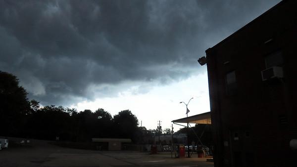 June 24:  A thunderstorm rolls through .  .  .