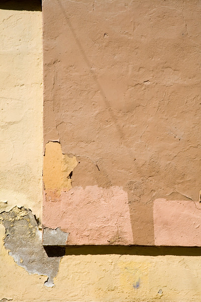 Colorful wall with L shape