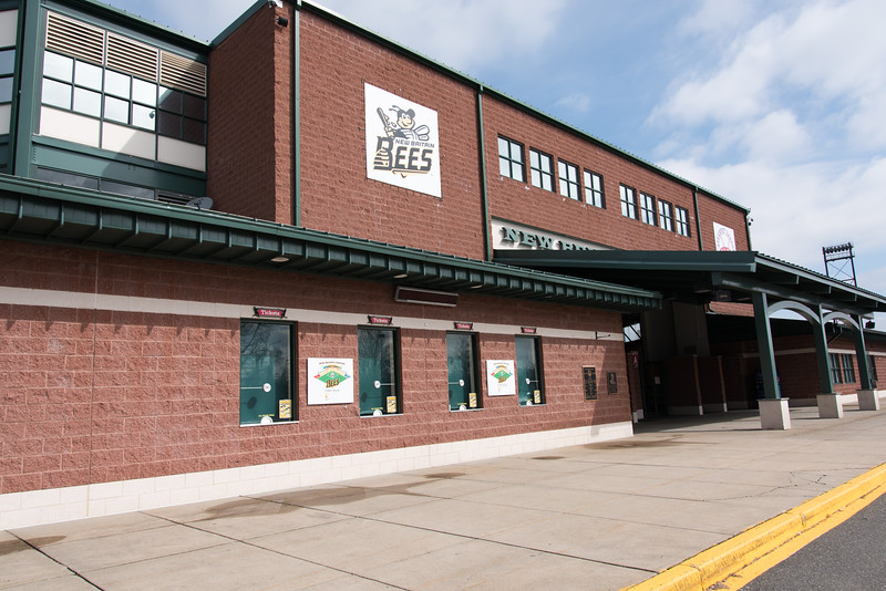 03/28/18  Wesley Bunnell | Staff  The main box office area outside of New Britain Bees Stadium next to the main entrance.