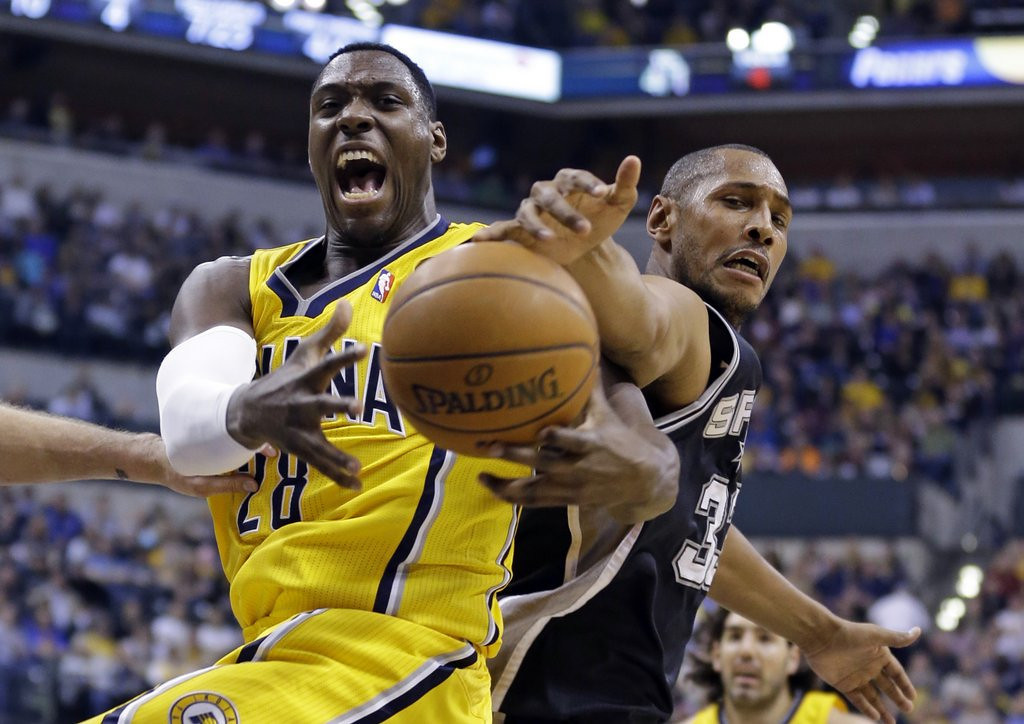 ". <p>9. INDIANA PACERS <p>Pretender alert: Since all-star break, they�re a half-game behind Timberwolves, for God�s sake. (unranked) <p><b><a href=\' http://www.cbssports.com/nba/eye-on-basketball/24509805/roy-hibbert-on-the-pacers-losing-the-no-1-seed-we-dont-deserve-it\' target=""_blank\""> HUH?</a></b> <p>    (AP Photo/Michael Conroy)"