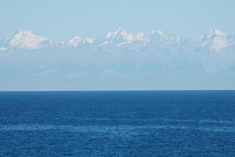Snow Capped Mountains Around Lake Issyk-Kul, Kyrgyzstan
