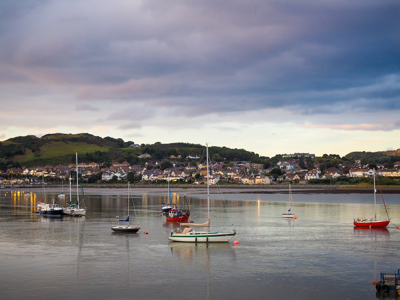 Conwy harbour at sunset