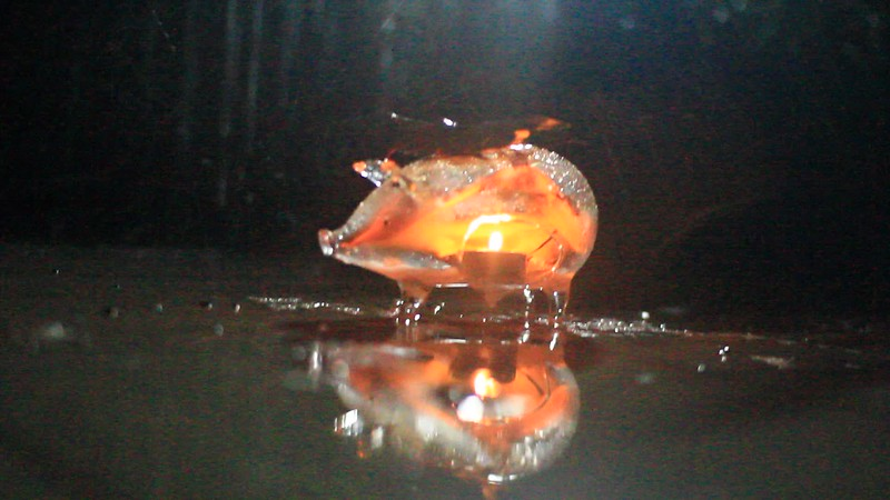 Varaha flaming in a rain