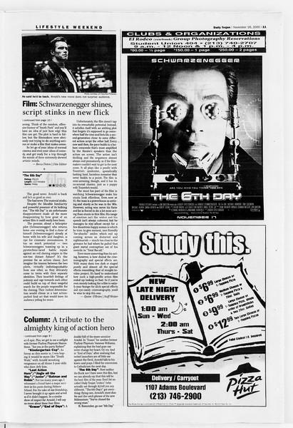 Daily Trojan, Vol. 141, No. 56, November 16, 2000