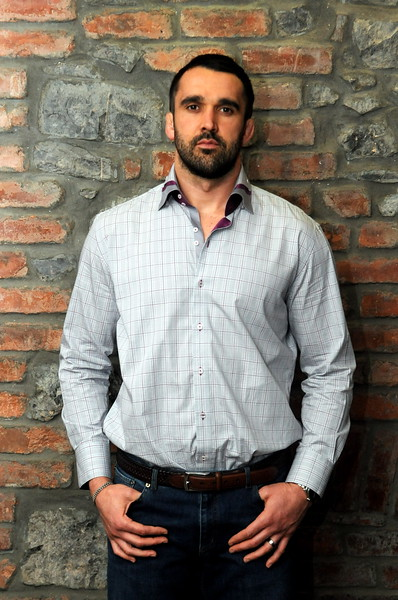 Fashion portrait of rugby player Jonathan Thomas for magazine usage.