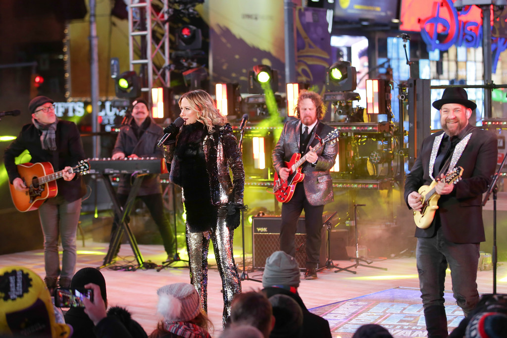 . Sugarland performs on stage at the New Year\'s Eve celebration in Times Square on Sunday, Dec. 31, 2017, in New York. (Photo by Brent N. Clarke/Invision/AP)