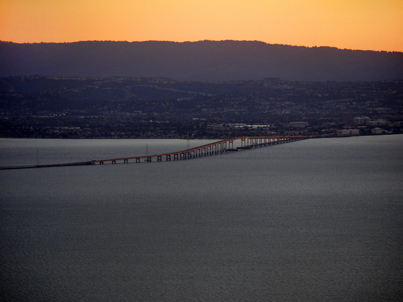 The San Mateo Bridge from the East.