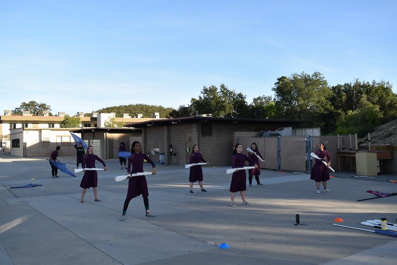 Winter Guard Practice