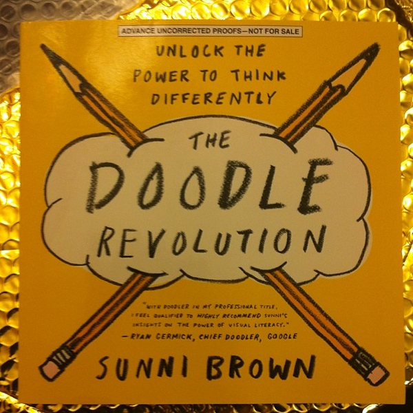 Sweet! A package from @sunnibrown with her new #doodlerevolution book in the mail today! Huzzah! Thanks Sunni!!