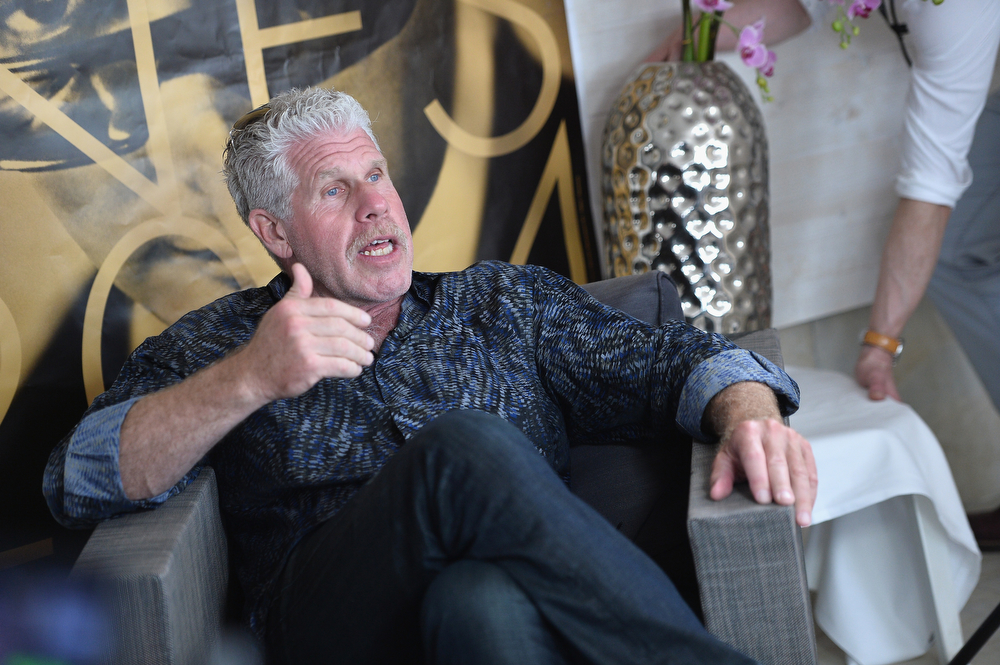 . Ron Perlman attends Deadline\'s Cocktails on the Croisette in partnership with AmericanExpress and Film Fraternity at La Gold Plage on May 16, 2014 in Cannes, France.  (Photo by Michael Buckner/Getty Images for Deadline Hollywood)