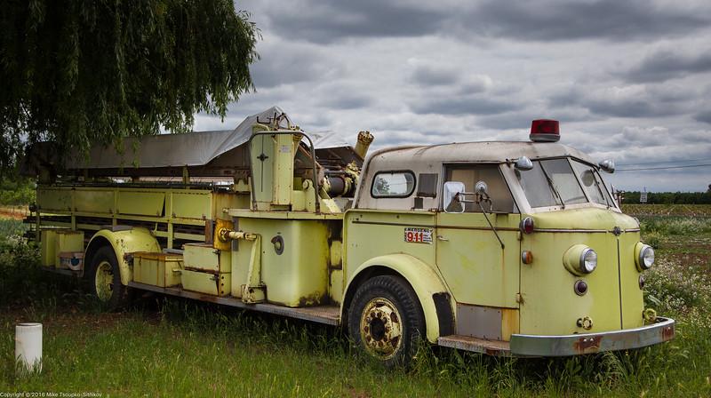 Old fire truck near Waterloo
