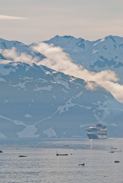 The Sapphire Princess following our route to Glacier Bay.