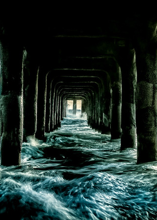 How To Photograph Waves Under  A Pier