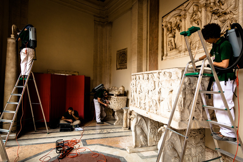 Cleaning the Vatican Museum