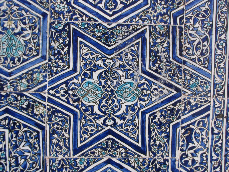 one small example of spectacular tiles found throughout Uzbekistan