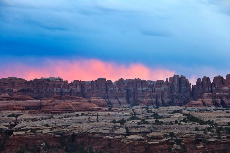 Fiery sunset panorama.