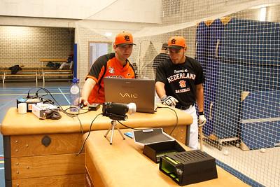 Trainingen, portretten en teamfoto's Nederlands honkbal team