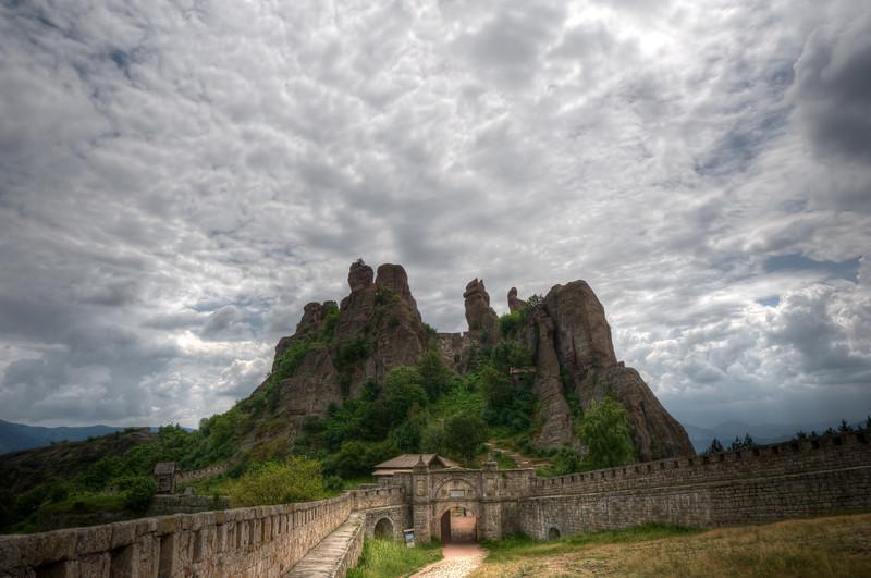 Red rock cliffs at Belogradchik Cliffs in Belogradchik, Bulgaria