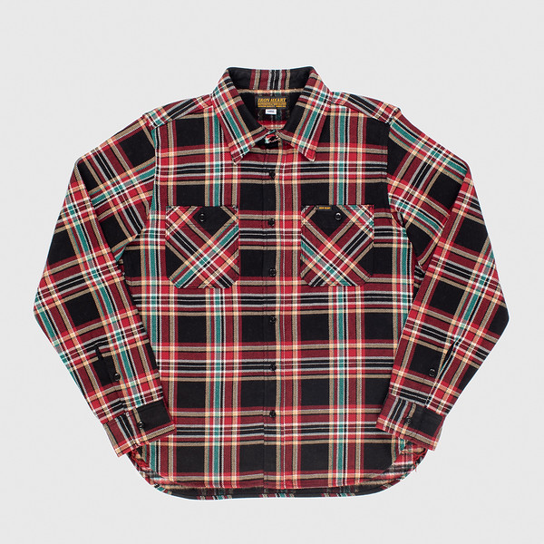 Black Crazy Check Ultra Heavy Flannel Work Shirt-.jpg