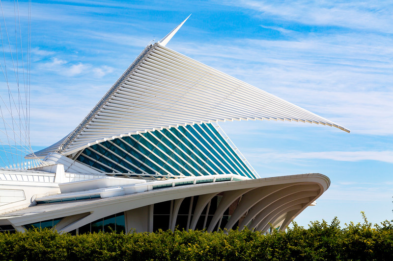 Milwaukee Art Museum's wings closing