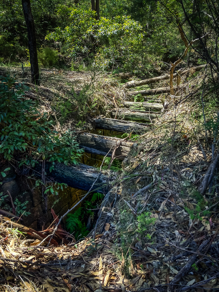 Wiseman's Ferry, Sydney, NSW, Australia<br /> Convict-built bridge and culvert, dating to around 1828/29; part of a disused section of road (abandoned because it was simply too steep). Located about 250m south of Hawkins Lookout, near the Stockade site.