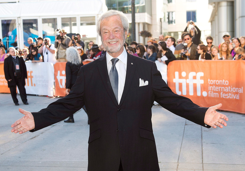 """. Actor Gordon Pinsent poses for a photograph on the red carpet at the gala for the new movie \""""The Grand Seduction\"""" during the 2013 Toronto International Film Festival in Toronto on Sunday, Sept. 8, 2013. (AP Photo/The Canadian Press, Nathan Denette)"""