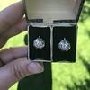 1.65ctw Old European Cut Diamond Dormeuse Earrings 19
