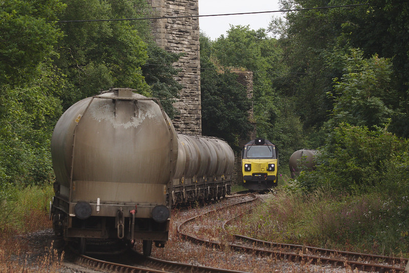 Colas Rail 70810 with the 6C36 Moorswater Tarmac Colas to Aberthaw Tarmac Colas Rail cement loads