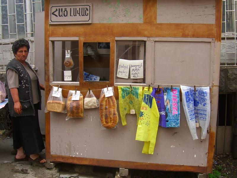 Plastic Bags and Bread Stuff - Goris, Armenia