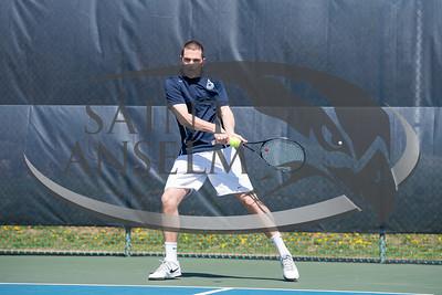 Men's Tennis vs. Stonehill (4/16/16) Courtesy Jim Stankiewicz