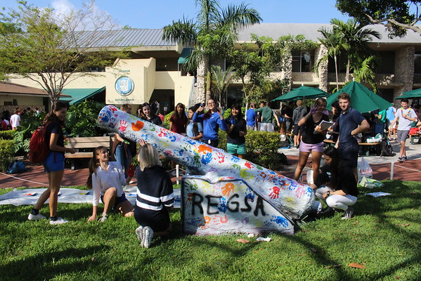 Upper School Paints  the Cannon