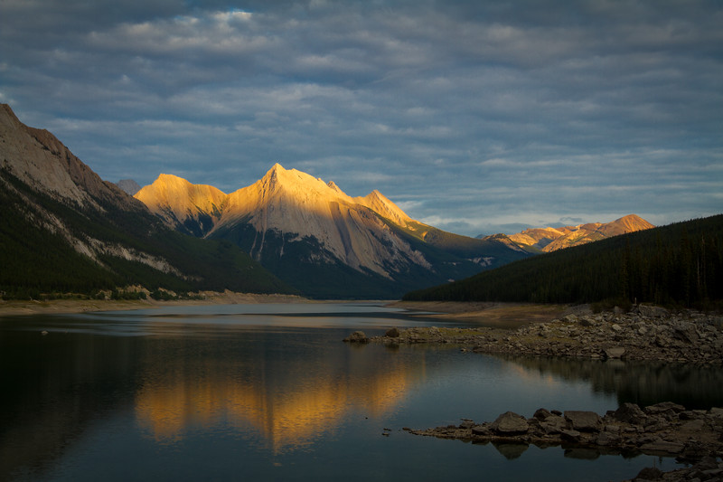 Medicine Lake - Jasper National Park - Sunset