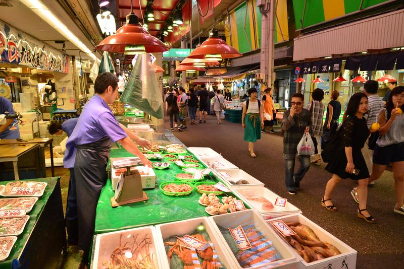 Omicho Ichiba market. Editorial credit: Pack-Shot / Shutterstock.com