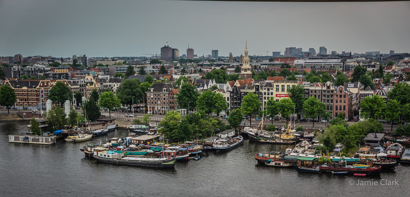 View from the Rooftop Cafeteria in Public Library, Amsterdam - July 2014