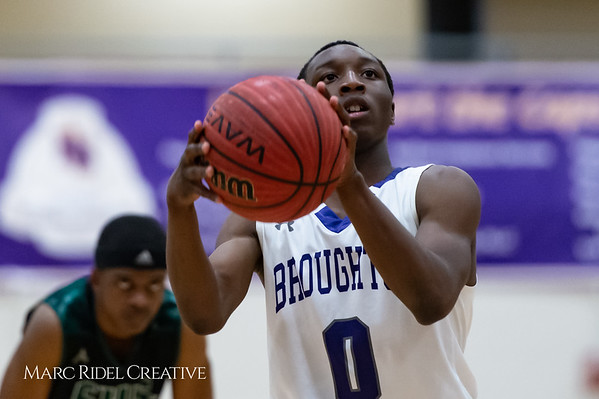 Broughton boys varsity basketball vs Enloe. February 19, 2019. D4S_0400