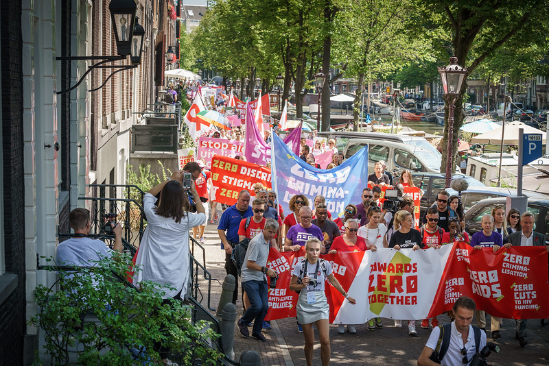 22nd International AIDS Conference (AIDS 2018) Amsterdam, Netherlands.   Copyright: Matthijs Immink/IAS  COMMUNITY MARCH IN AMSTERDAM  Mabel van Oranje