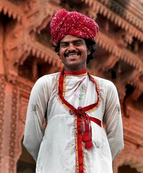 Musician in the Mehrangarh Fort,  Jodhpur, Rajasthan, India, 2011.
