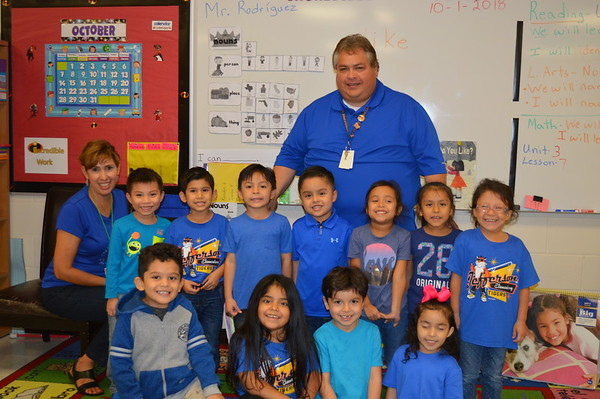 Wearing Blue for Anti- Bullying Month