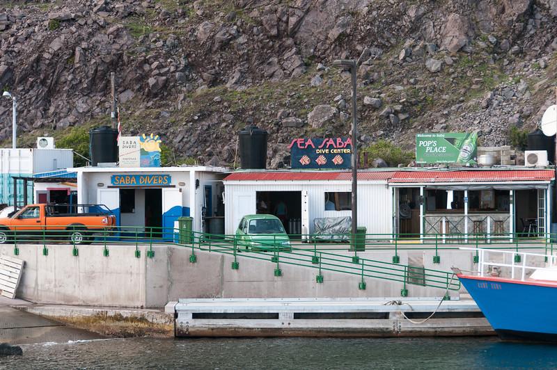 Port on the island of Saba